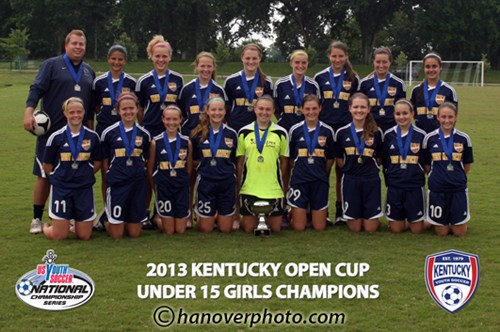 U15 Girls Champion - West KY United